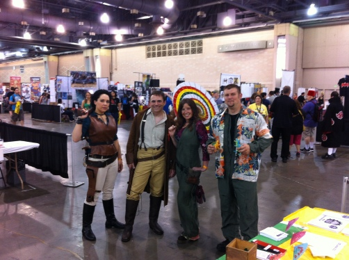 TBtS volunteers and cosplayers at Wizard World Philadelphia 2013