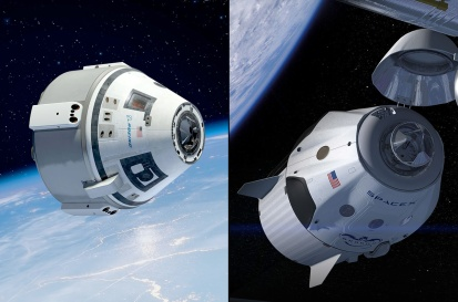 Left: Boeing CST-100 Right: SpaceX Dragon v2