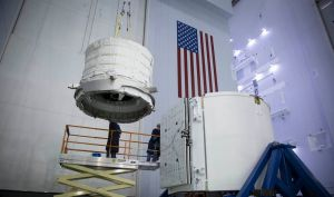 Bigelow-Aerospace-BEAM-experiment-integrated-into-CRS-8-Dragon-trunk-SpaceX-photo-posted-on-SpaceFlight-Insider